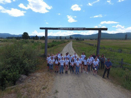 24 high schoolers at a ranch in Baker County, Ore.