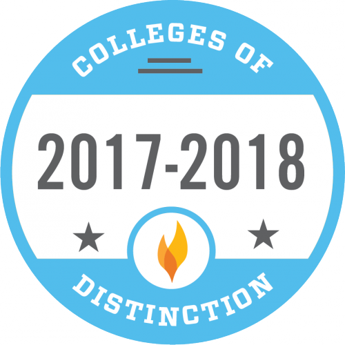 Colleges of Distinction 17-18 badge