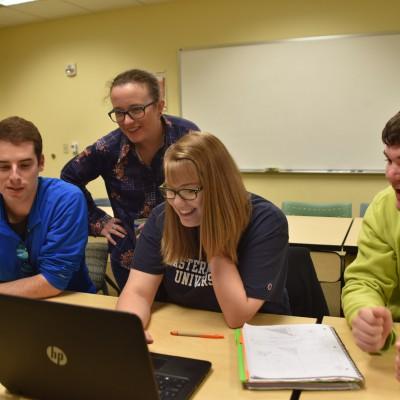 Amy Yielding's math research seminar in fall 2017