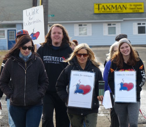 EOU students at Walk for Warmth 2017
