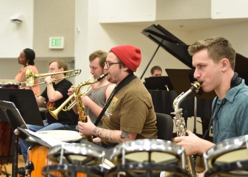 EOU student jazz ensemble 45th Parallel