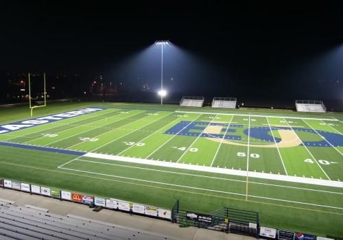 New turf at night