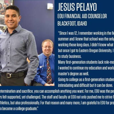 Jesus Pelayo graduated from EOU with a bachelor's in business administration in spring 2018.