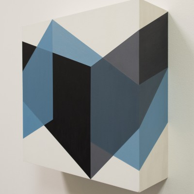 TRIPLEX 6 Michael Ingold, 2018 Acrylic on wood panel 12 x 12 x 4in.