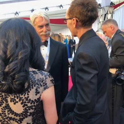 Skye talking with actor Sam Elliot