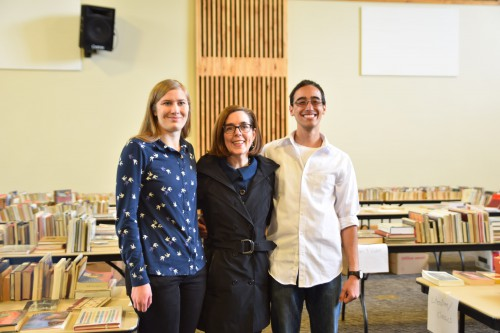 Gov. Kate Brown visited the Sage Book Sale during her tour of campus last year.