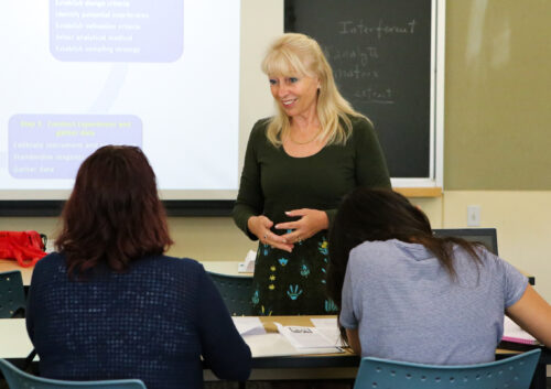 Anna Cavinato teaching a class