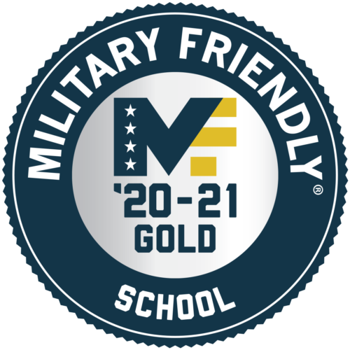 Military Friendly Gold badge 2020-21
