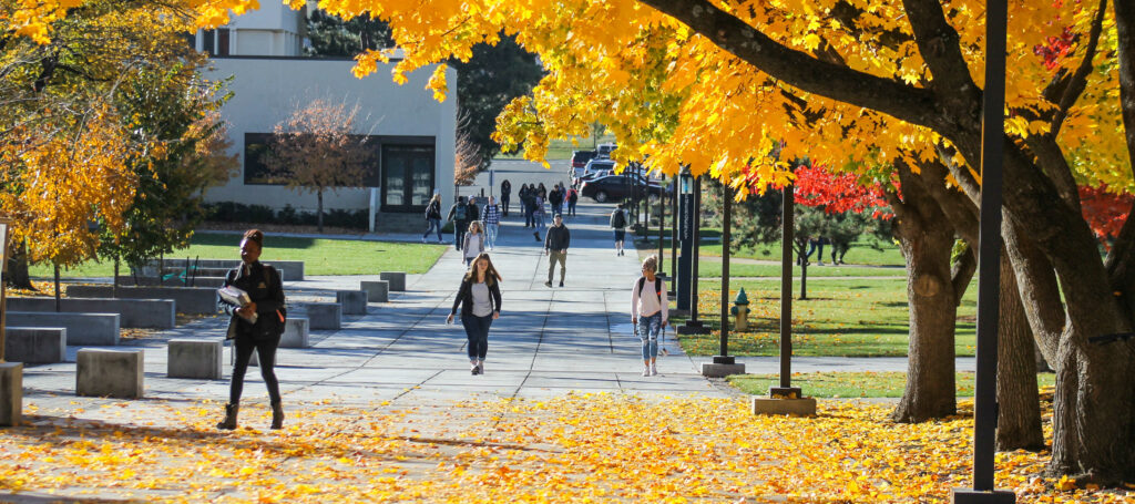 Students at EOU during fall term