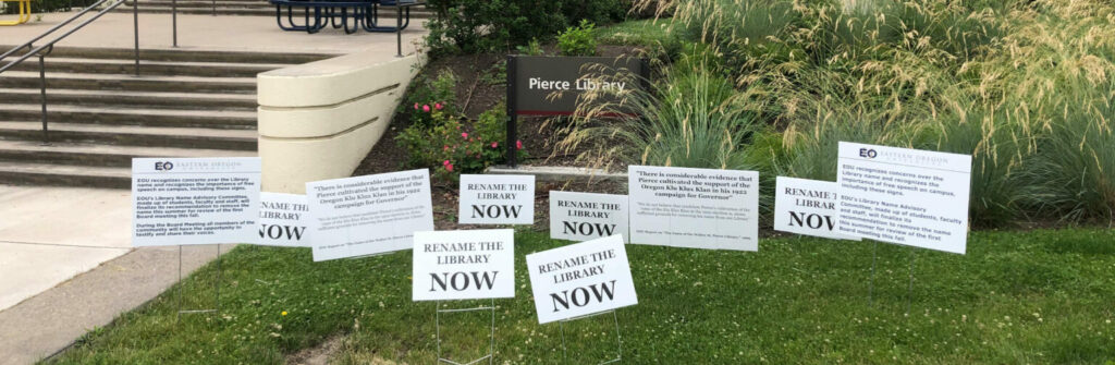 Rename the Pierce Library Campaign