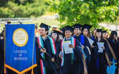 College of Business at commencement