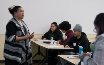 Bennie leading a class during CEAD 2020