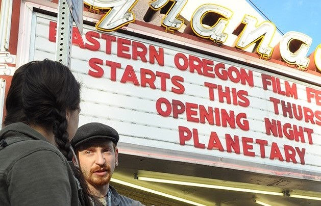 Students attend the Eastern Oregon Film Festival at EOU