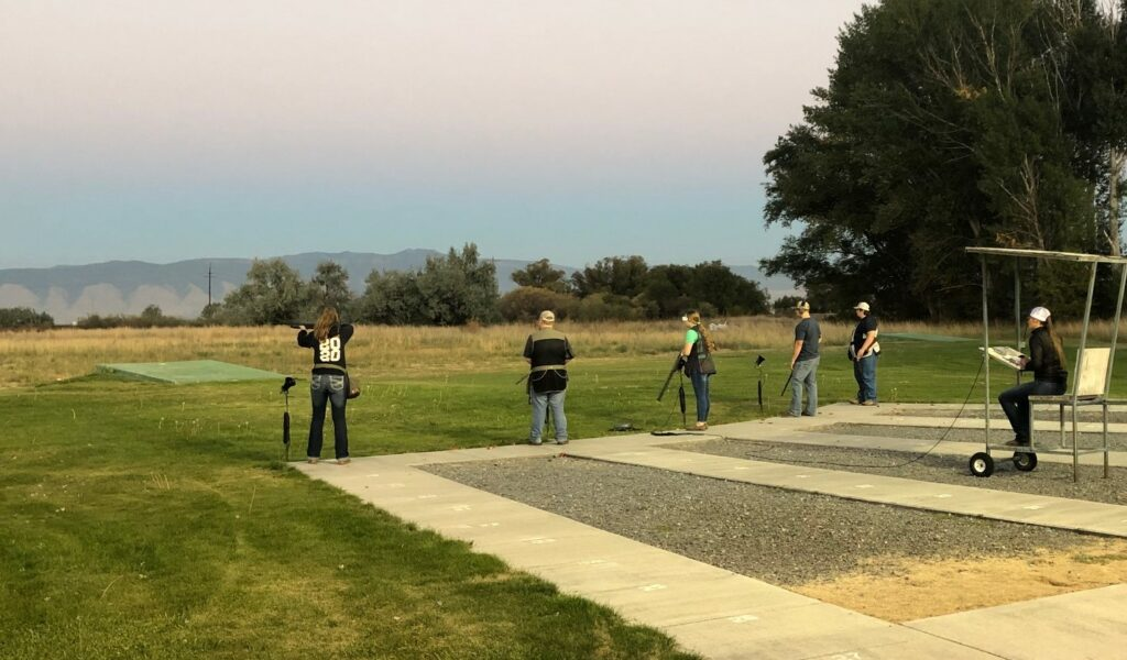 Trapshooting club team practice