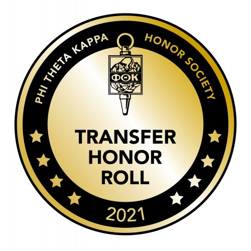 PTK Transfer Honor Roll 2021