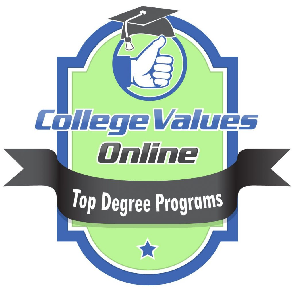 Top Online Degree Programs Badge from College Values Online