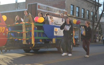 student float in 2019 parade